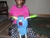 Eden on her new bike!