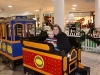 Riding the train at the mall