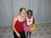 Eden with her ballet teacher