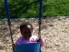 Eden swinging at Columbian Park