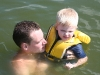 Billy and Andy in the lake
