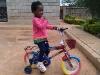 Eden on her big girl bike!