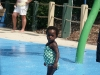 Eden in the splash park
