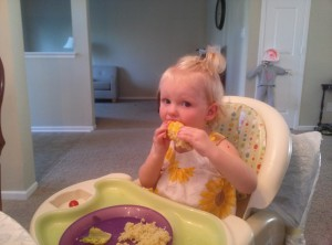 Grace LOVES to eat corn on the cob!