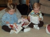 Vivi and Andy reading books