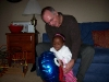 Grandpa and Eden playing with her balloon