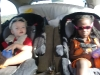 Cool kids in the car