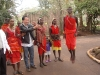 Eden dancing with the Masaai