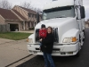 Andy and Mommy with the Big Truck!