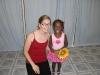 Eden with her ballet teacher