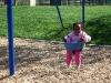 Eden swinging at Columbian Park