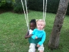 Eden and Ellana on the swing