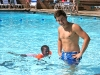 Colin and Eden swimming