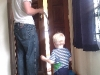 Andy helping Daddy fix the door